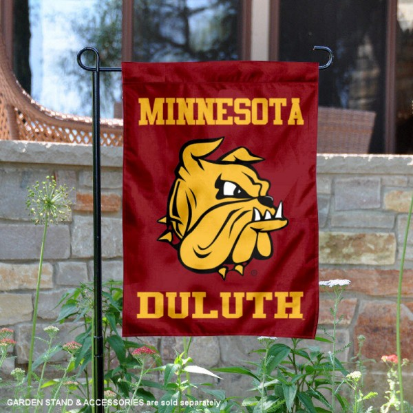 University of Minnesota Duluth Garden Flag is 13x18 inches in size, is made of 2-layer polyester, screen printed university athletic logos and lettering, and is readable and viewable correctly on both sides. Available same day shipping, our University of Minnesota Duluth Garden Flag is officially licensed and approved by the university and the NCAA.