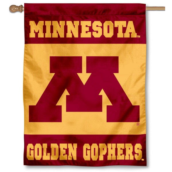 University of Minnesota House Flag is a vertical house flag which measures 30x40 inches, is made of 2 ply 100% polyester, offers dye sublimated NCAA team insignias, and has a top pole sleeve to hang vertically. Our University of Minnesota House Flag is officially licensed by the selected university and the NCAA
