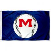 University of Mississippi Baseball Flag