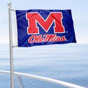 University of Mississippi Boat and Mini Flag