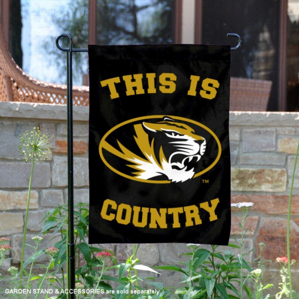 University of Missouri Country Garden Flag is 13x18 inches in size, is made of 2-layer polyester, screen printed university athletic logos and lettering, and is readable and viewable correctly on both sides. Available same day shipping, our University of Missouri Country Garden Flag is officially licensed and approved by the university and the NCAA.
