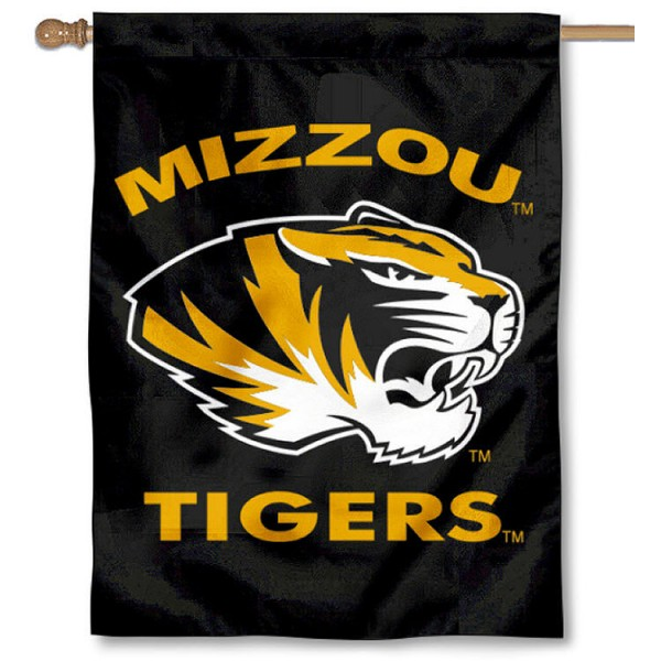 University of Missouri House Flag is a vertical house flag which measures 30x40 inches, is made of 2 ply 100% polyester, offers dye sublimated NCAA team insignias, and has a top pole sleeve to hang vertically. Our University of Missouri House Flag is officially licensed by the selected university and the NCAA