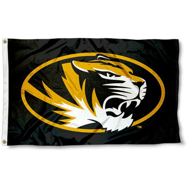 University of Missouri Tigers Flag measures 3'x5', is made of 100% poly, has quadruple stitched sewing, two metal grommets, and has double sided University of Mizzou Tiger logos. Our University of Missouri Tigers Flag is officially licensed by the selected university and the NCAA.