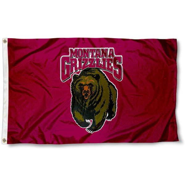 University of Montana Flag measures 3'x5', is made of 100% poly, has quadruple stitched sewing, two metal grommets, and has double sided University of Montana logos. Our University of Montana Flag is officially licensed by the selected university and the NCAA