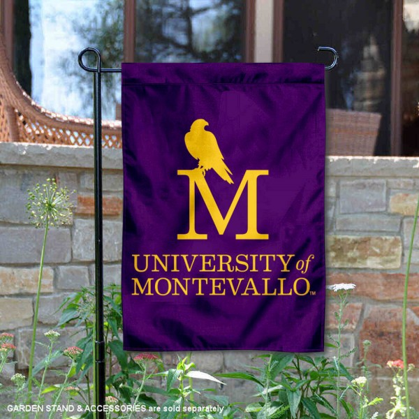 University of Montevallo Academic Logo Garden Flag is 13x18 inches in size, is made of 2-layer polyester, screen printed university athletic logos and lettering, and is readable and viewable correctly on both sides. Available same day shipping, our University of Montevallo Academic Logo Garden Flag is officially licensed and approved by the university and the NCAA.
