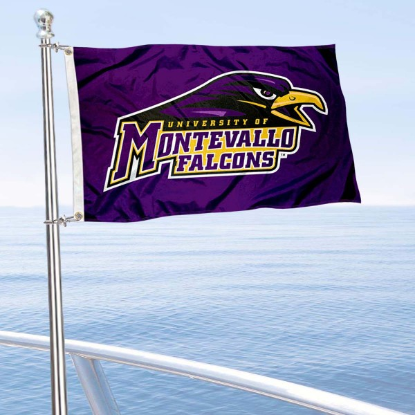 University of Montevallo Boat and Mini Flag is 12x18 inches, polyester, offers quadruple stitched flyends for durability, has two metal grommets, and is double sided. Our mini flags for University of Montevallo are licensed by the university and NCAA and can be used as a boat flag, motorcycle flag, golf cart flag, or ATV flag.