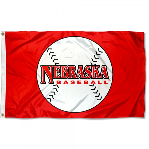 University of Nebraska Baseball Flag measures 3'x5', is made of 100% poly, has quadruple stitched sewing, two metal grommets, and has double sided Team University logos. Our University of Nebraska Baseball Flag is officially licensed by the selected university and the NCAA.