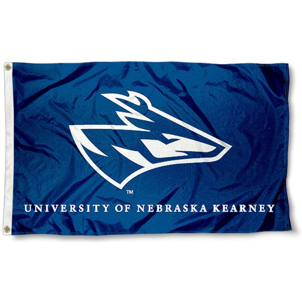 University of Nebraska Kearney Flag measures 3'x5', is made of 100% poly, has quadruple stitched sewing, two metal grommets, and has double sided University of Nebraska Kearney logos. Our University of Nebraska Kearney Flag is officially licensed by the selected university and the NCAA.