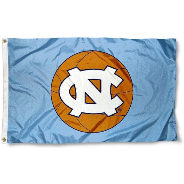 University of North Carolina Basketball Flag measures 3'x5', is made of 100% poly, has quadruple stitched sewing, two metal grommets, and has double sided University of North Carolina logos. Our University of North Carolina Basketball Flag is officially licensed by the selected university and the NCAA