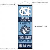 University of North Carolina Decor and Banner