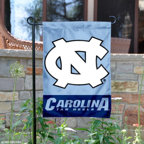 University of North Carolina Garden Flag is made of 100% polyester, measures 13x18 inches, and has screen printed NCAA School insignias and lettering. The University of North Carolina Garden Flag is approved by University of North Carolina and NCAA and university garden flags are great for your entranceway, garden, yard, mailbox, or window.