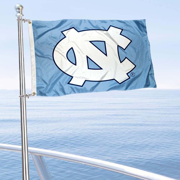 University of North Carolina Golf Cart Flag is a small 12x18 inches, made of 2-ply polyester with quad stitched flyends, and is double-sided. Our Golf Cart Logo Flags are Officially Licensed and Approved by UNC and NCAA.