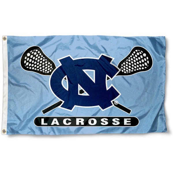University of North Carolina Lacrosse Flag measures 3'x5', is made of 100% poly, has quadruple stitched sewing, two metal grommets, and has double sided University of North Carolina logos. Our University of North Carolina Lacrosse Flag is officially licensed by the selected university and the NCAA.