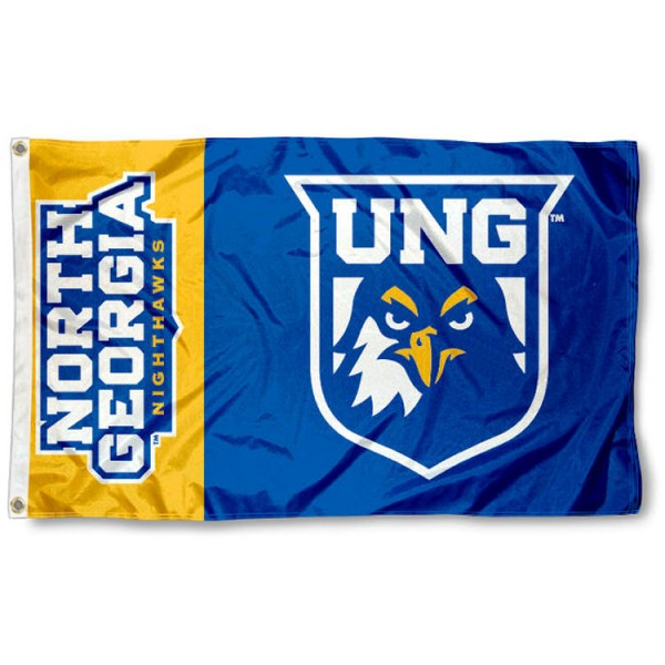 University of North Georgia 3x5 Flag is made of 100% nylon, offers quad stitched flyends, measures 3x5 feet, has two metal grommets, and is viewable from both side with the opposite side being a reverse image. Our University of North Georgia 3x5 Flag is officially licensed by the selected college and NCAA