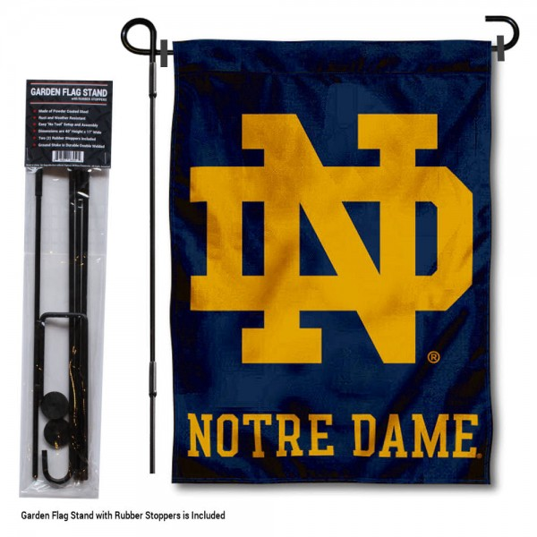 University of Notre Dame Garden Flag and Stand