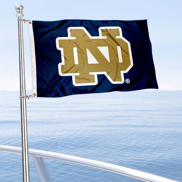 University of Notre Dame Golf Cart Flag is a small 12x18 inches, made of 2-ply polyester with quad stitched flyends, and is double-sided. Our Golf Cart Logo Flags are Officially Licensed and Approved by Notre Dame and NCAA.