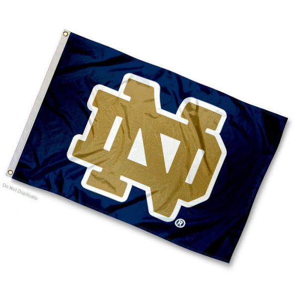 University of Notre Dame Mini Flag is 12x18 inches, 100% nylon, offers double stitched flyends for durability, has two metal grommets, and is double sided. Our mini flags are licensed by the university and NCAA and can be used as a boat flag, motorcycle flag, golf cart flag, or ATV flag