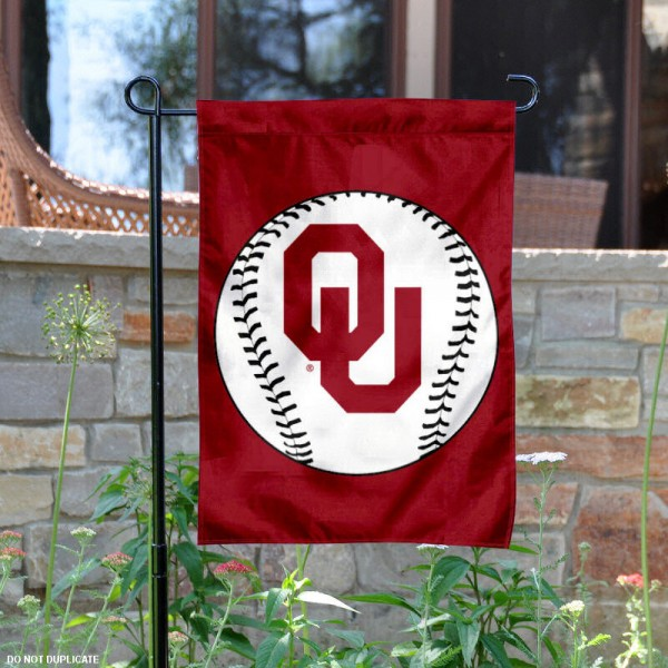 University of Oklahoma Baseball Garden Flag is 13x18 inches in size, is made of 2-layer polyester, screen printed University of Oklahoma Baseball athletic logos and lettering. Available with Express Shipping, Our University of Oklahoma Baseball Garden Flag is officially licensed and approved by University of Oklahoma Baseball and the NCAA.