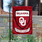 University of Oklahoma Boomer Sooner Shield Garden Flag