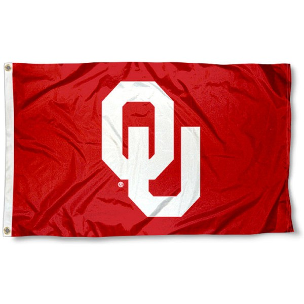 University of Oklahoma Flag measures 3'x5', is made of 100% poly, has quadruple stitched sewing, two metal grommets, and has double sided University of Oklahoma logos. Our University of Oklahoma Flag is officially licensed by the selected university and the NCAA