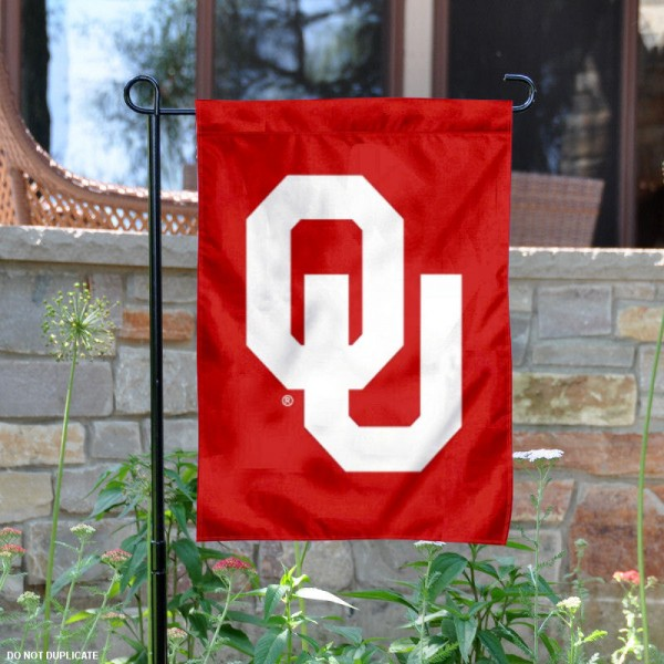 University of Oklahoma Garden Flag is made of 100% polyester, measures 13x18 inches, and has screen printed NCAA School insignias and lettering. The University of Oklahoma Garden Flag is approved by University of Oklahoma and NCAA and university garden flags are great for your entranceway, garden, yard, mailbox, or window.