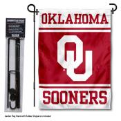 University of Oklahoma Garden Flag and Stand