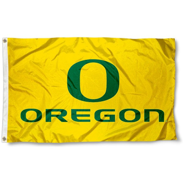 University of Oregon Ducks Flag measures 3'x5', is made of 100% poly, has quadruple stitched sewing, two metal grommets, and has double sided University of Oregon Duck logos. Our University of Oregon Ducks Flag is officially licensed by the selected university and the NCAA.