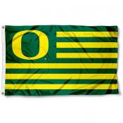 University of Oregon Ducks Striped Flag