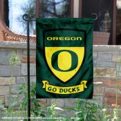 University of Oregon Go Ducks Shield Garden Flag