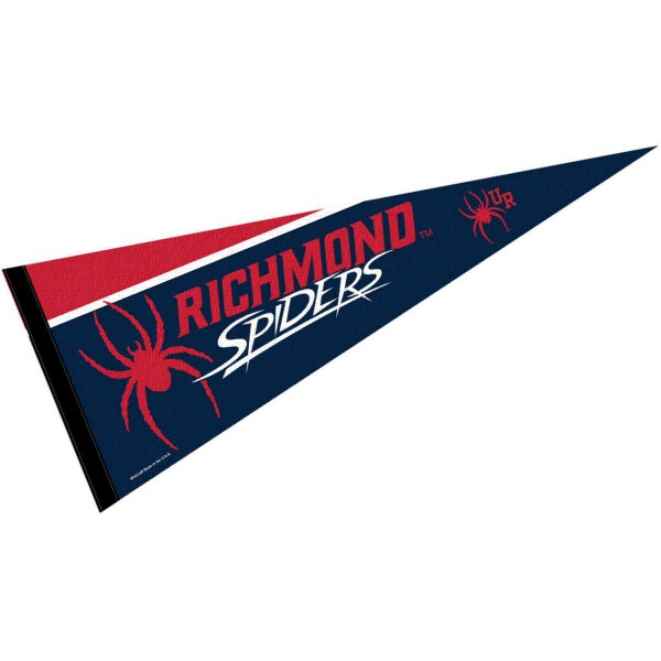 University of Richmond Decorations consists of our full size pennant which measures 12x30 inches, is constructed of felt, is single sided imprinted, and offers a pennant sleeve for insertion of a pennant stick, if desired. This University of Richmond Decorations is officially licensed by the selected university and the NCAA.
