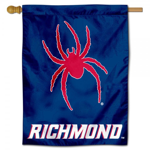 "University of Richmond Spiders House Flag is constructed of polyester material, is a vertical house flag, measures 30""x40"", offers screen printed athletic insignias, and has a top pole sleeve to hang vertically. Our University of Richmond Spiders House Flag is Officially Licensed by University of Richmond Spiders and NCAA."
