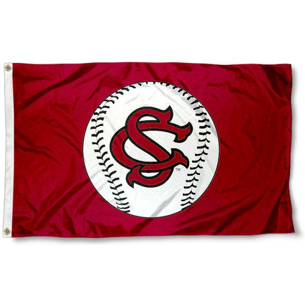 University of South Carolina Baseball Flag measures 3'x5', is made of 100% poly, has quadruple stitched sewing, two metal grommets, and has double sided Team University logos. Our University of South Carolina Baseball Flag is officially licensed by the selected university and the NCAA.