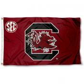 University of South Carolina SEC Logo Flag