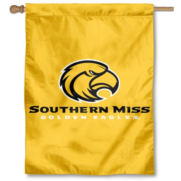 University of Southern Miss House Flag is a vertical house flag which measures 30x40 inches, is made of 2 ply 100% polyester, offers dye sublimated NCAA team insignias, and has a top pole sleeve to hang vertically. Our University of Southern Miss House Flag is officially licensed by the selected university and the NCAA.