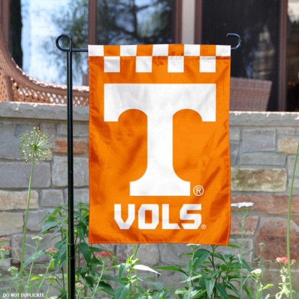 University of Tennessee Checkerboard Garden Flag is 13x18 inches in size, is made of 2-layer polyester, screen printed university athletic logos and lettering, and is readable and viewable correctly on both sides. Available same day shipping, our University of Tennessee Checkerboard Garden Flag is officially licensed and approved by the university and the NCAA.