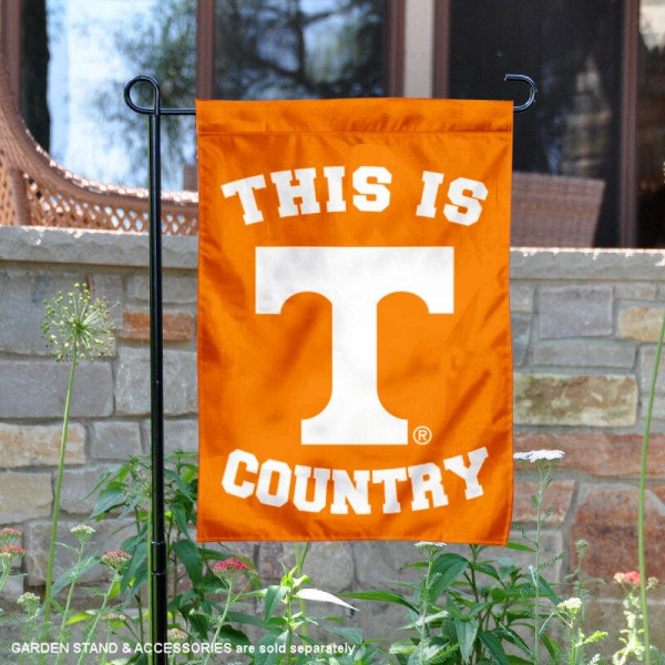 University of Tennessee Country Garden Flag is 13x18 inches in size, is made of 2-layer polyester, screen printed university athletic logos and lettering, and is readable and viewable correctly on both sides. Available same day shipping, our University of Tennessee Country Garden Flag is officially licensed and approved by the university and the NCAA.