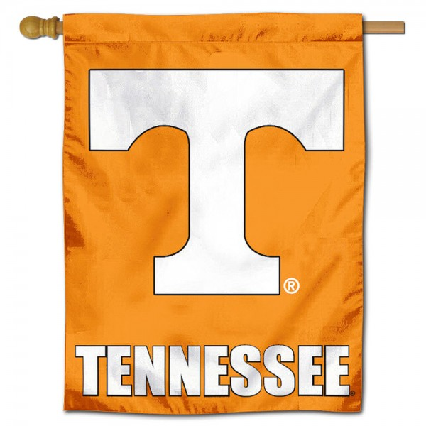 "University of Tennessee Decorative Flag is constructed of polyester material, is a vertical house flag, measures 30""x40"", offers screen printed athletic insignias, and has a top pole sleeve to hang vertically. Our University of Tennessee Decorative Flag is Officially Licensed by University of Tennessee and NCAA."