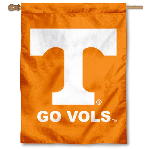 University of Tennessee House Flag is a vertical house flag which measures 30x40 inches, is made of 2 ply 100% polyester, offers dye sublimated NCAA team insignias, and has a top pole sleeve to hang vertically. Our University of Tennessee House Flag is officially licensed by the selected university and the NCAA