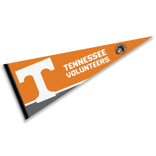 University of Tennessee Pennant consists of our full size sports pennant which measures 12x30 inches, is constructed of felt, is single sided imprinted, and offers a pennant sleeve for insertion of a pennant stick, if desired. This Tennessee Vols Pennant Decorations is Officially Licensed by the selected university and the NCAA.