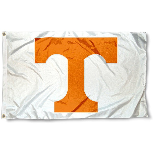 University of Tennessee White Flag measures 3'x5', is made of 100% poly, has quadruple stitched sewing, two metal grommets, and has double sided University of Illinois logos. Our University of Tennessee White Flag is officially licensed by the selected university and the NCAA