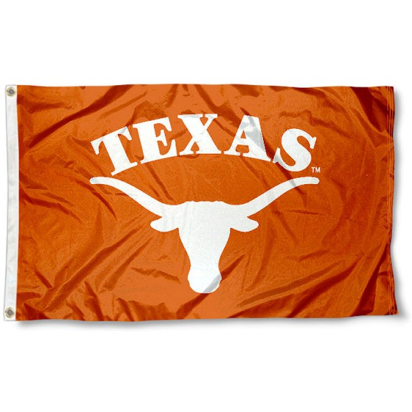 University of Texas Arched Flag measures 3'x5', is made of 100% poly, has quadruple stitched sewing, two metal grommets, and has double sided University of Texas logos. Our University of Texas Arched Flag is officially licensed by the selected university and the NCAA