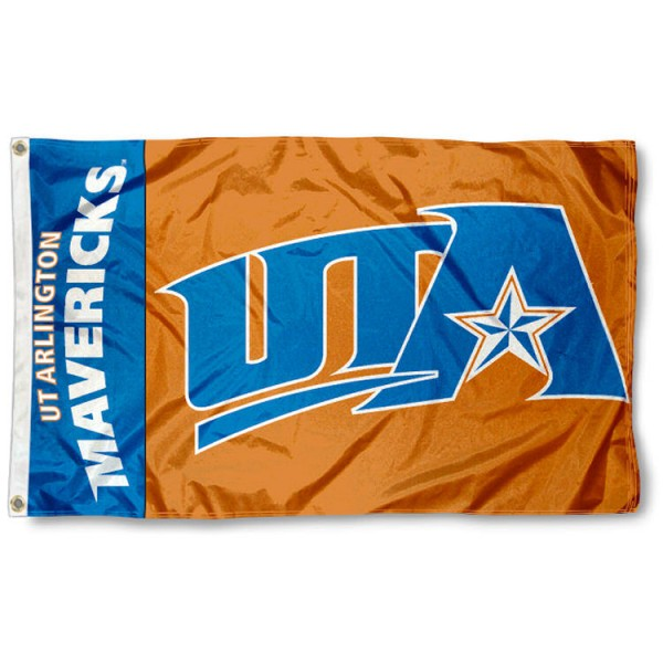 University of Texas at Arlington 3x5 Flag is made of 100% nylon, offers quad stitched flyends, measures 3x5 feet, has two metal grommets, and is viewable from both side with the opposite side being a reverse image. Our University of Texas at Arlington 3x5 Flag is officially licensed by the selected college and NCAA