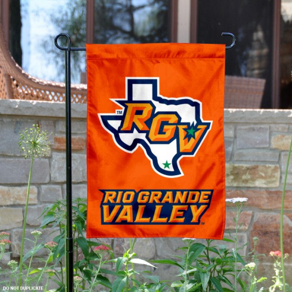 University of Texas Rio Grande Valley Garden Flag is 13x18 inches in size, is made of 2-layer polyester, screen printed university athletic logos and lettering, and is readable and viewable correctly on both sides. Available same day shipping, our University of Texas Rio Grande Valley Garden Flag is officially licensed and approved by the university and the NCAA.