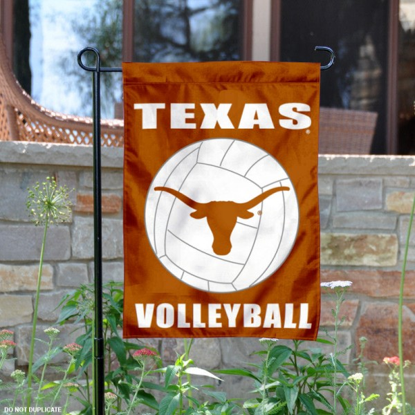 University of Texas Volleyball Yard Flag is 13x18 inches in size, is made of 2-layer polyester, screen printed Texas Longhorns Volleyball athletic logos and lettering. Available with Same Day Express Shipping, Our University of Texas Volleyball Yard Flag is officially licensed and approved by Texas Longhorns Volleyball and the NCAA.