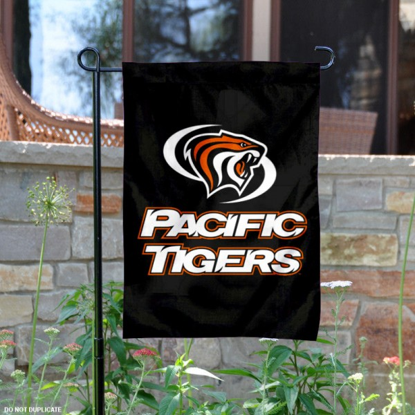 University of the Pacific Garden Flag is 13x18 inches in size, is made of 2-layer polyester, screen printed university athletic logos and lettering, and is readable and viewable correctly on both sides. Available same day shipping, our University of the Pacific Garden Flag is officially licensed and approved by the university and the NCAA.