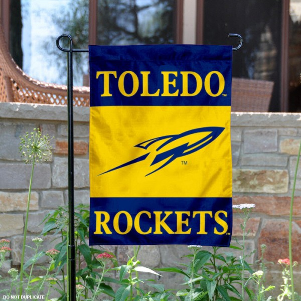 University of Toledo Garden Flag is 13x18 inches in size, is made of 2-layer polyester, screen printed University of Toledo athletic logos and lettering. Available with Same Day Express Shipping, Our University of Toledo Garden Flag is officially licensed and approved by University of Toledo and the NCAA.