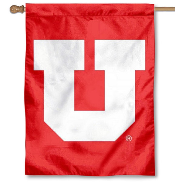 University of Utah Big U House Flag is a vertical house flag which measures 30x40 inches, is made of 2 ply 100% polyester, offers dye sublimated NCAA team insignias, and has a top pole sleeve to hang vertically. Our University of Utah Big U House Flag is officially licensed by the selected university and the NCAA