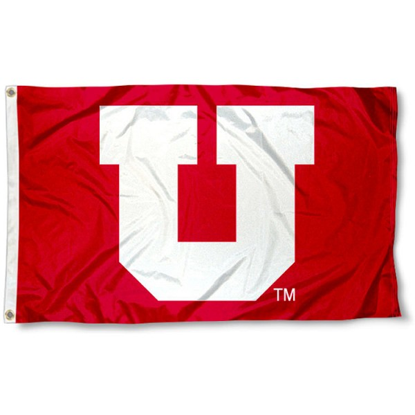 University of Utah Red Big U Flag measures 3'x5', is made of 100% poly, has quadruple stitched sewing, two metal grommets, and has double sided Team University logos. Our Utah Utes 3x5 Flag is officially licensed by the selected university and the NCAA.