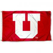 University of Utah Red Big U Flag