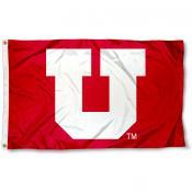 University of Utah Red Big U Flag